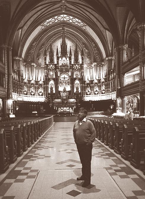 """Visiting the Notre-Dame Cathedral Basilica"" Ottawa, Canada / Leica M4P; Kodak Tri-X 400 ASA"