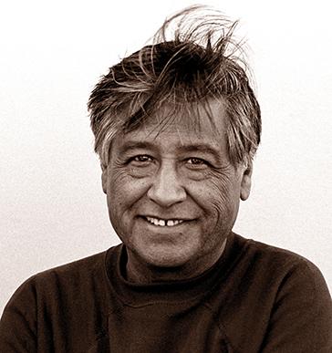 """Smiling Cesar"" / La Paz:  Keene, CA / Leica SL2; Kodak Tri-X 400 ASA"